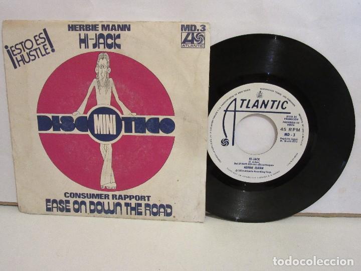 HERBIE MANN / CONSUMER RAPPORT - HI JACK - SINGLE - 1975 - PROMO - SPAIN - VG/VG (Música - Discos - Singles Vinilo - Funk, Soul y Black Music)