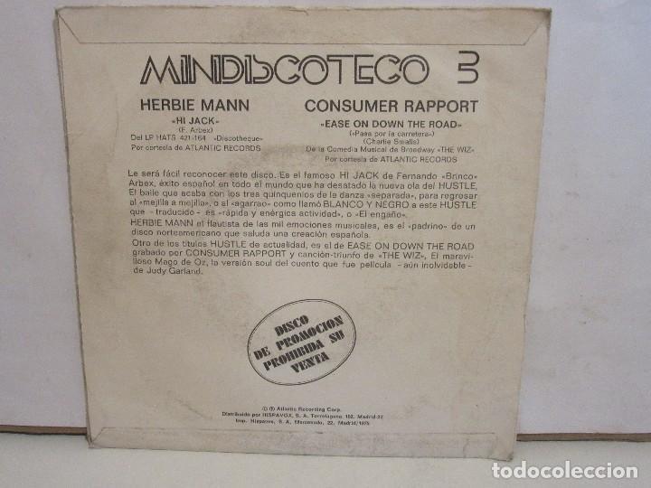 Discos de vinilo: Herbie Mann / Consumer Rapport - Hi Jack - Single - 1975 - PROMO - Spain - VG/VG - Foto 2 - 205382811