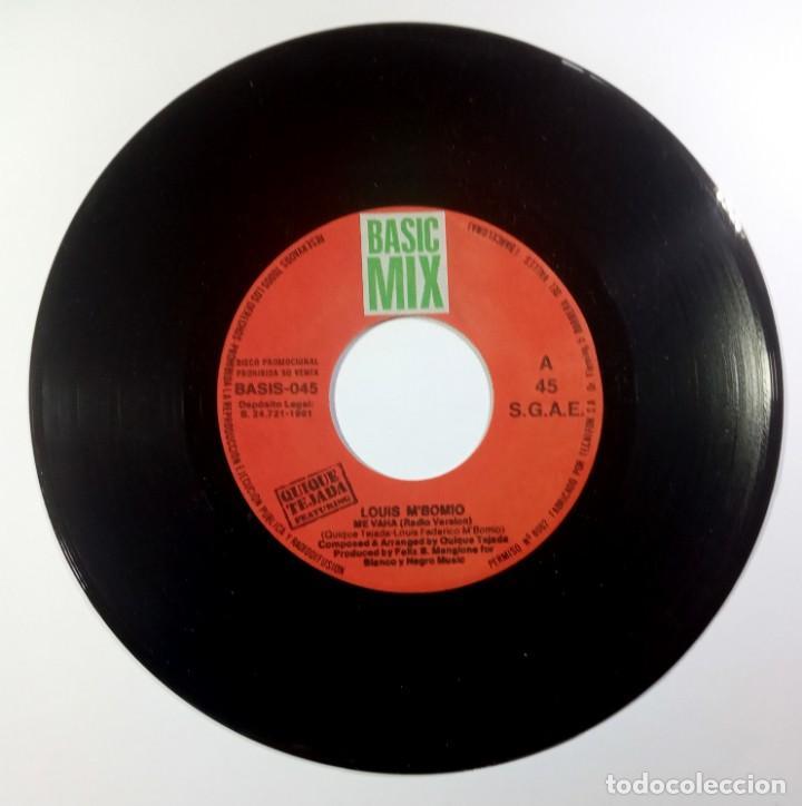Discos de vinilo: QUIQUE TEJADA feat LOUIS M´BOMIO me vaha - SINGLE PROMO 1991 (s/sided) - BASIC MIX - Foto 3 - 205400065