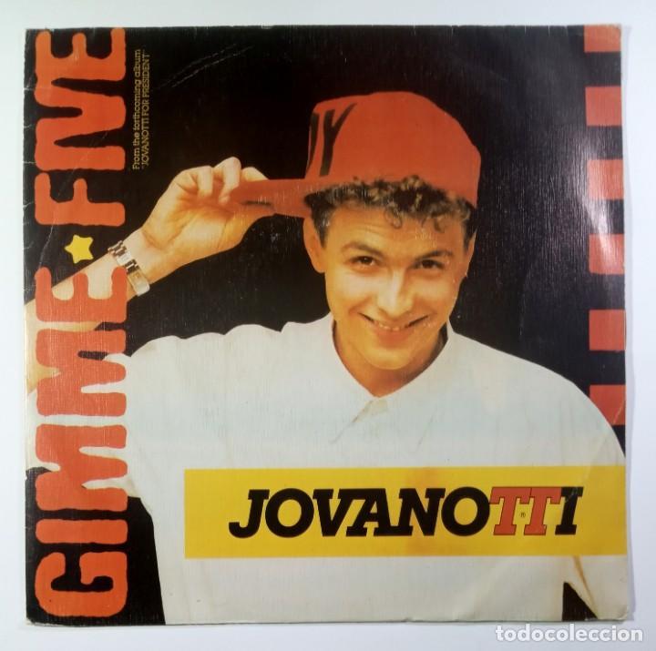 JOVANOTTI - GIMME FIVE / I NEED YOU - SINGLE PROMO 1988 - BLANCO Y NEGRO (Música - Discos - Singles Vinilo - Techno, Trance y House)