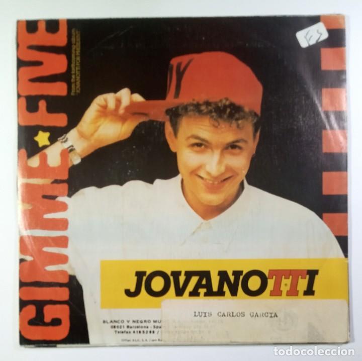 Discos de vinilo: JOVANOTTI - gimme five / i need you - SINGLE PROMO 1988 - BLANCO Y NEGRO - Foto 2 - 205401038