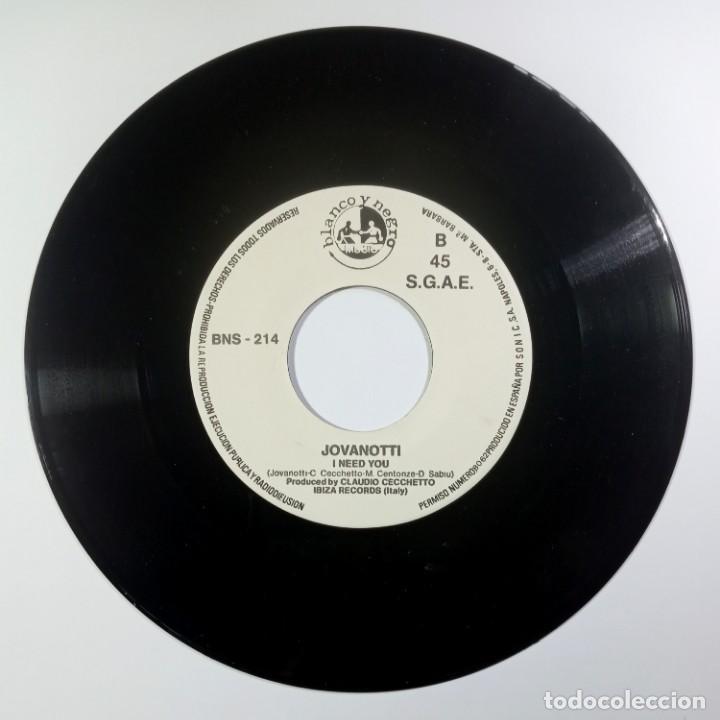 Discos de vinilo: JOVANOTTI - gimme five / i need you - SINGLE PROMO 1988 - BLANCO Y NEGRO - Foto 3 - 205401038