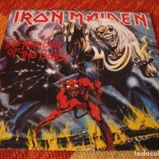 Discos de vinilo: IRON MAIDEN LP NUMBER OF THE BEAST 1982 EMI ELECTROLA ALEMANIA 1984 + FUNDA INTERIOR. Lote 205401091