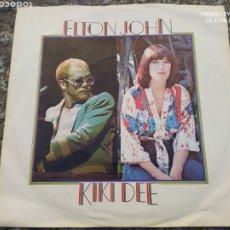 Discos de vinilo: ELTON JOHN - KIKI DEE. SINGLE BUEN ESTADO. Lote 205401076