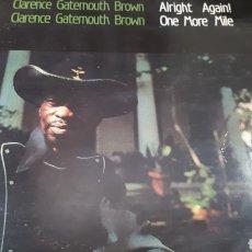 Discos de vinilo: CLARENCE GATEMOUTH BROWN ALRIGHT AGAIN DOBLE LP. Lote 205401191