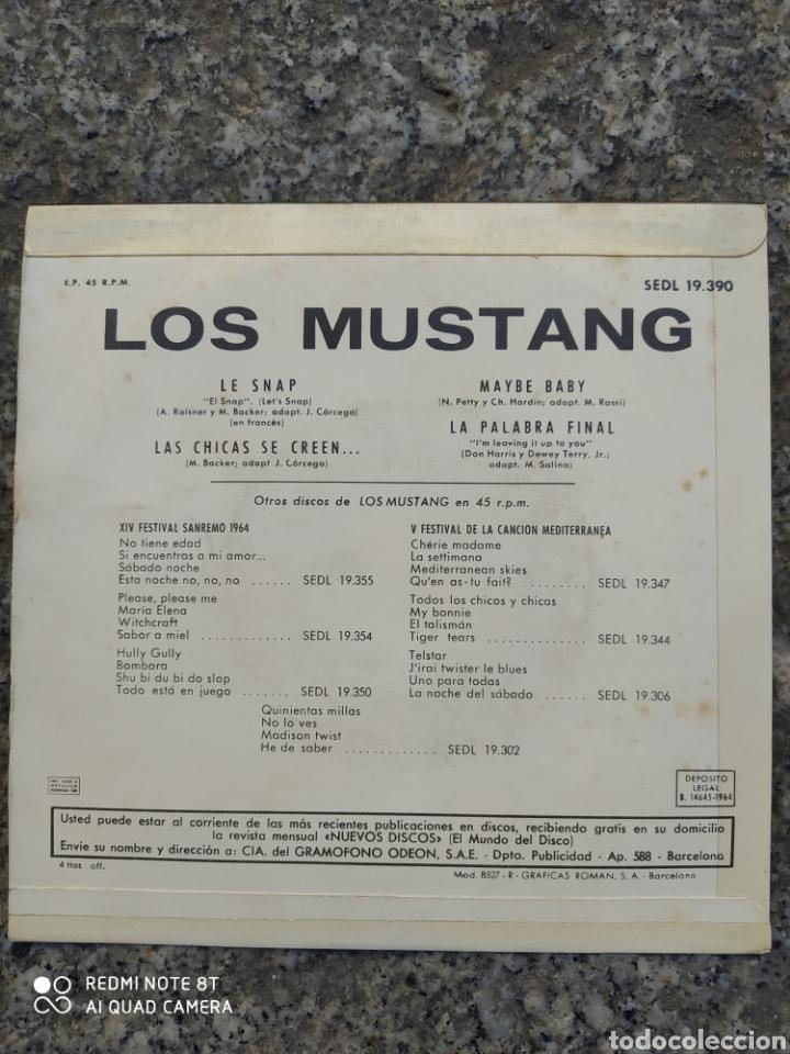 Discos de vinilo: Los Mustang. Le snap. EP vinilo buen estado - Foto 2 - 205401851