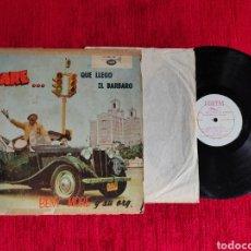Discos de vinilo: BENNY MORÉ LP PARE QUE LLEGÓ EL BÁRBARO HECHO EN CUBA. Lote 205402378