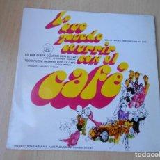 Discos de vinilo: LO QUE PUEDE OCURRIR CON EL CAFE, SG, HENRRY - LO QUE PUEDE OCURRIR CON EL CAFE + 1, AÑO 1968. Lote 205402682