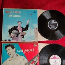 Discos de vinilo: LUIS AGUILÉ/ SUS DOS PRIMEROS DISCOS HECHOS EN CUBA. Lote 205402955