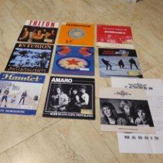 Discos de vinilo: LOTE- NUEVE SINGLES HEAVY ESPAÑOL. Lote 205403533
