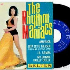 Disques de vinyle: THE RHYTHM MANIACS MY BONNIE + 3 EP BELTER 1964 @ SURF INSTRUMENTAL / COMO NUEVO. Lote 205404650