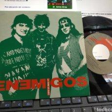 Discos de vinilo: LOS ENEMIGOS SINGLE TORRE DE BABEL 1990. Lote 205404961