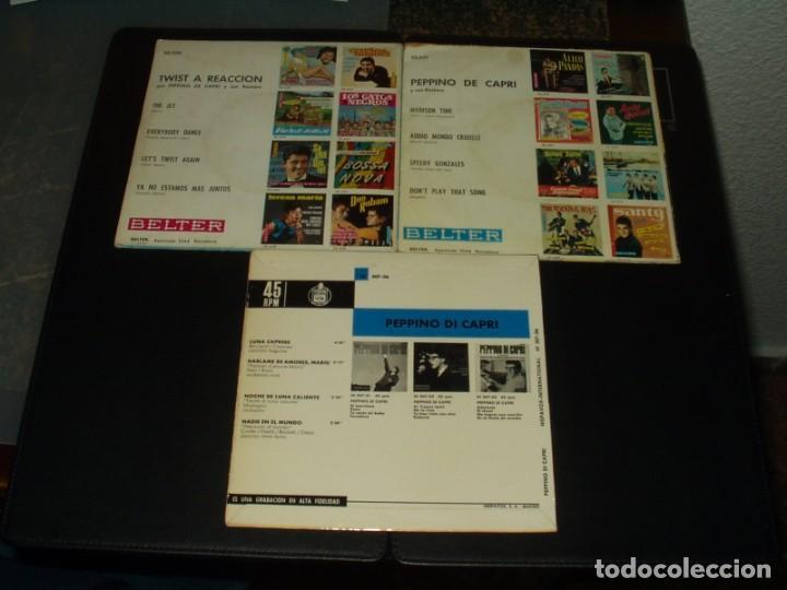 Discos de vinilo: LOTE PEPPINO DI CAPRI 3 EPS EDICIONES ESPAÑOLAS - Foto 2 - 205409523