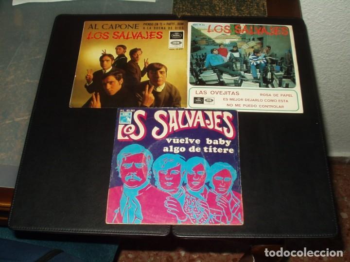 LOTE SLAVAJES 2 EP'S Y UN SINGLE (Música - Discos - Singles Vinilo - Grupos Españoles 50 y 60)
