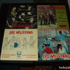 Discos de vinilo: LOTE 4 EP'S MUSTANG COVERS DE BEATLES. Lote 205432403