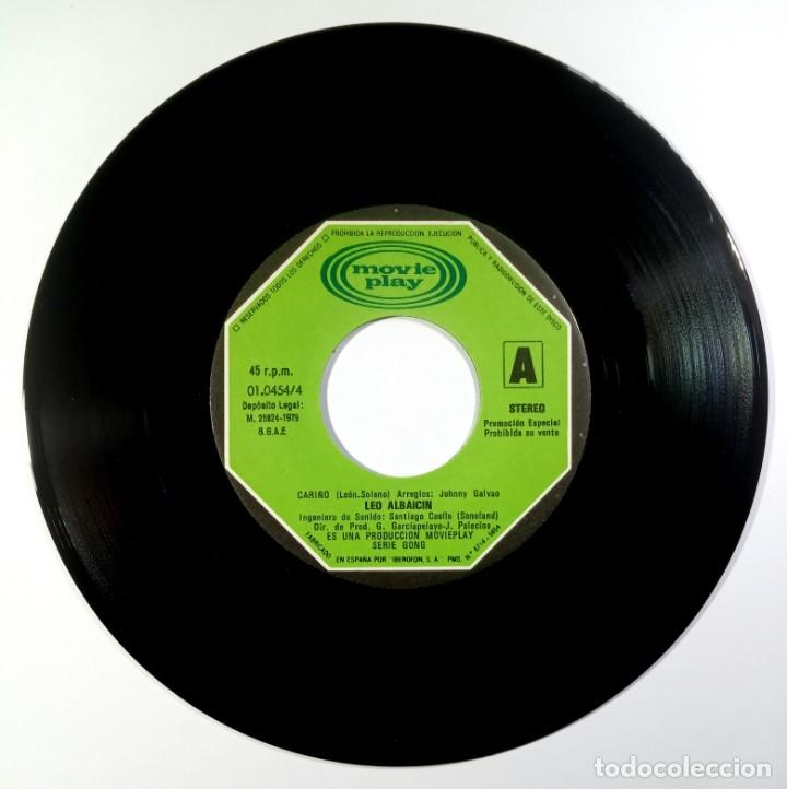 Discos de vinilo: LEO ALBAICIN - cariño / en la media noche - SINGLE 1979 - MOVIEPLAY - Foto 3 - 205433376