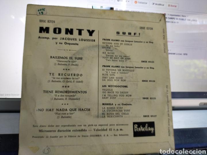 Discos de vinilo: Monty EP surf! Bailemos el surf + 3 España 1963 - Foto 2 - 205433731