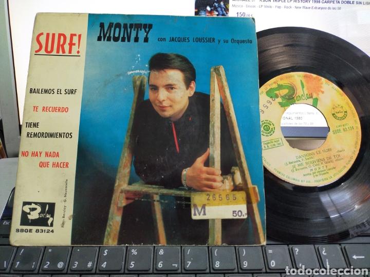 MONTY EP SURF! BAILEMOS EL SURF + 3 ESPAÑA 1963 (Música - Discos de Vinilo - EPs - Canción Francesa e Italiana)