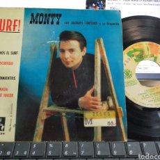 Discos de vinilo: MONTY EP SURF! BAILEMOS EL SURF + 3 ESPAÑA 1963. Lote 205433731