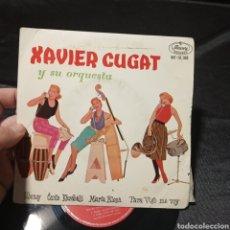 Discos de vinilo: XAVIER CUGAT Y SU ORQUESTA SIBONEY CANTO MARÍA ELENA PARA VIGO ME VOY EP VINILO. Lote 205434190