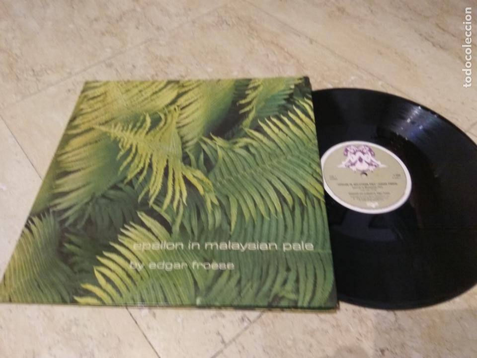 EDGAR FROESE ?– EPSILON IN MALAYSIAN PALE- RARE UK EDITION-1975-VIRGIN ?– V2040-TAN / MAROON LABELS- (Música - Discos - LP Vinilo - Electrónica, Avantgarde y Experimental)