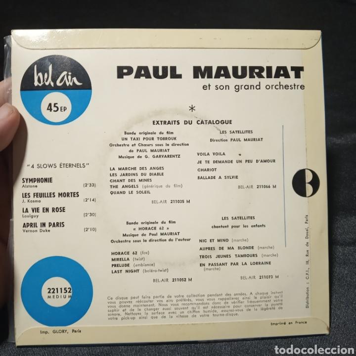 Discos de vinilo: Paul Mauriat y su orquesta 4 slows eternels vinilo single - Foto 2 - 205436872