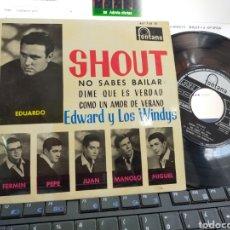Discos de vinilo: EDWARD Y LOS WINDYS EP SHOUT + 3 1964 EN PERFECTO ESTADO. Lote 205436895