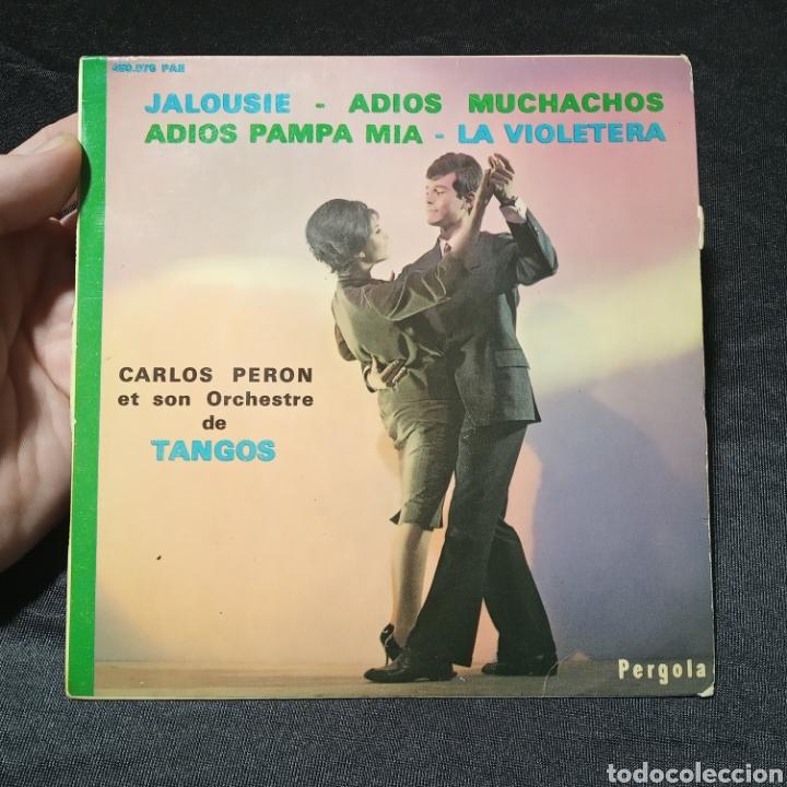VINILO MAXI SINGLE CARLOS PERÓN Y SU ORQUESTA DE TANGOS (Música - Discos de Vinilo - Maxi Singles - Orquestas)