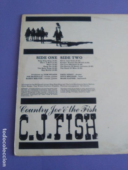 Discos de vinilo: JOYA LP. ORIGINAL UK 1970. COUNTRY JOE AND THE FISH ‎– C.J. Fish. Sello: Vanguard ‎– 6359 002 - Foto 8 - 205440531