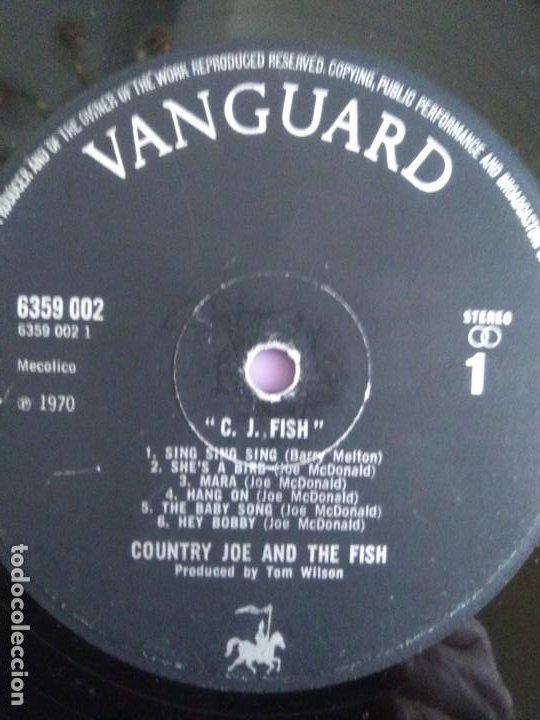 Discos de vinilo: JOYA LP. ORIGINAL UK 1970. COUNTRY JOE AND THE FISH ‎– C.J. Fish. Sello: Vanguard ‎– 6359 002 - Foto 12 - 205440531