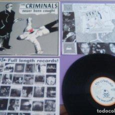 Discos de vinilo: JOYA LP ORIGINAL PUNK.THE CRIMINALS – NEVER BEEN CAUGHT. SELLO LOOKOUT! RECORDS. LK 170.AÑO 1997 US. Lote 205442860