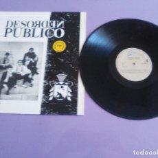 Discos de vinilo: JOYA LP MUY DIFICIL.ORIGINAL.DESORDEN PÚBLICO.DESORDEN PÚBLICO.SKA VENEZUELA 80'S.EPIC EPC 463173 1. Lote 205446735