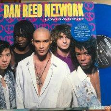 Discos de vinilo: DAN REED NETWORK - LOVER/MONEY MAXI UK MERCURY 90 VINILO AZUL FUNK METAL. Lote 205453357