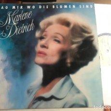 Discos de vinilo: MARLENE DIETRICH - SAG MIR WO DIE BLUMEN SIND LP EMI 83 ALEMANIA CHANSON. Lote 205453920