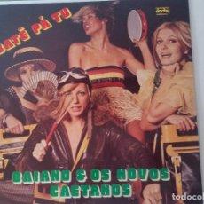 Discos de vinilo: DISCO PARA COLECION EN VINYL DE BATE,PA TU. BAIANO Y OS NOVOS CAETANOS. Lote 205455888