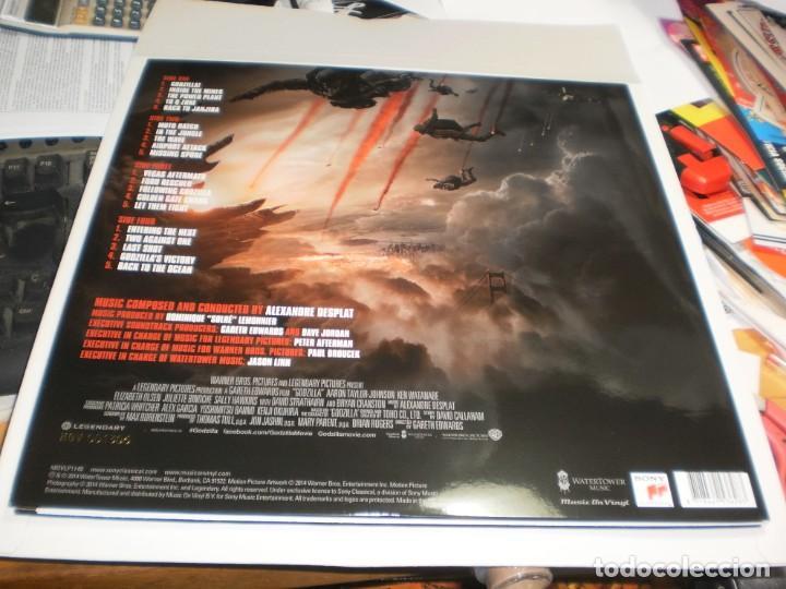 Discos de vinilo: lp 2 discos rojos godzilla. alexandre desplat. warner 2014 eu con póster (probado, seminuevo) - Foto 2 - 205459647