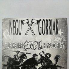 Discos de vinilo: NEGU GORRIAK ITXURAKERIARI STOP HYPOCRISY TOUR 93. Lote 205508971