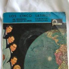 Discos de vinilo: LOS CINCO LATINOS TELEGRAMA. Lote 205516113