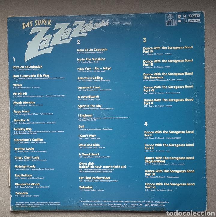 Discos de vinilo: ZAZAZABADAK,,, doble LP - Foto 2 - 205516945