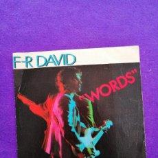 "Discos de vinilo: F-R DAVID. ""WORDS"". SINGLE V. Lote 205524305"
