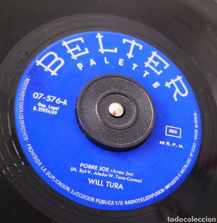 Discos de vinilo: WILL TURA - POBRE JOE - SINGLE RARO DIFÍCIL - Foto 2 - 205525342