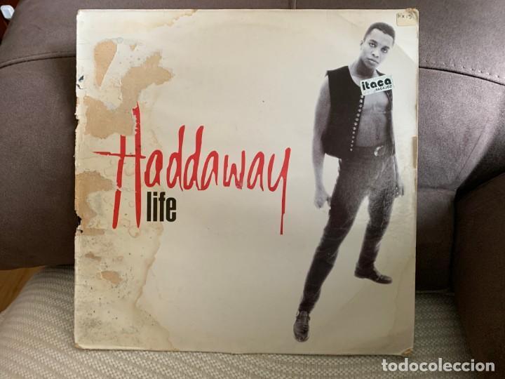 HADDAWAY – LIFE. MAXI SINGLE VINILO. ESTADO VG+ /GOOD. 1993 (Música - Discos - LP Vinilo - Disco y Dance)