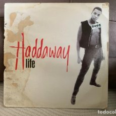Discos de vinilo: HADDAWAY ‎– LIFE. MAXI SINGLE VINILO. ESTADO VG+ /GOOD. 1993. Lote 205529576