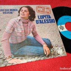 Discos de vinilo: LUPITA D'ALESSIO JURO QUE NUNCA VOLVERE/CAMINANDO CON LOS GITANOS 7'' SINGLE 1978 SPAIN JUAN GABRIEL. Lote 205539401