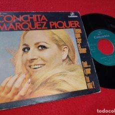 Discos de vinilo: CONCHITA MARQUEZ PIQUER TIENE QUE SER EL AMOR/ FUE...¡POR TU VOZ! 7'' SINGLE 1970GREG SEGURA. Lote 205540337