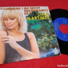 Discos de vinilo: LOLA MARTINEZ PERSIGUEME/ME ESTOY ENAMORANDO DE TI SINGLE 1978 HISPAVOX COSMIC DISCO TRABUCCHELLI. Lote 205541315
