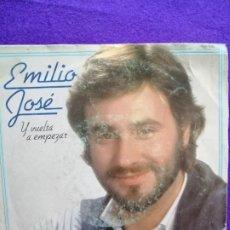 Discos de vinilo: EMILIO JOSÉ. SINGLE. VINILOS. Lote 205543033