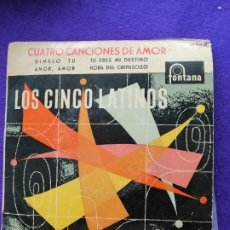 Discos de vinilo: LOS CINCO LATINOS. SINGLE. VINILO. Lote 205545131