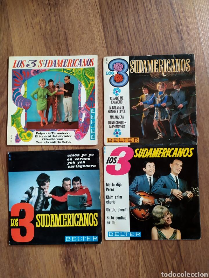 LOTE LOS TRES SUDAMERICANOS (Música - Discos - Singles Vinilo - Grupos y Solistas de latinoamérica)