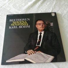 Discos de vinilo: BEETHOVEN. NOVENA SINFONÍA. KARLBOHM. PHILIPS. LP. 1975. Lote 205548572